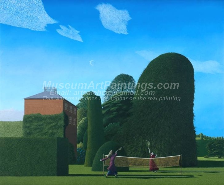 Garden Paintings The Badminton Game