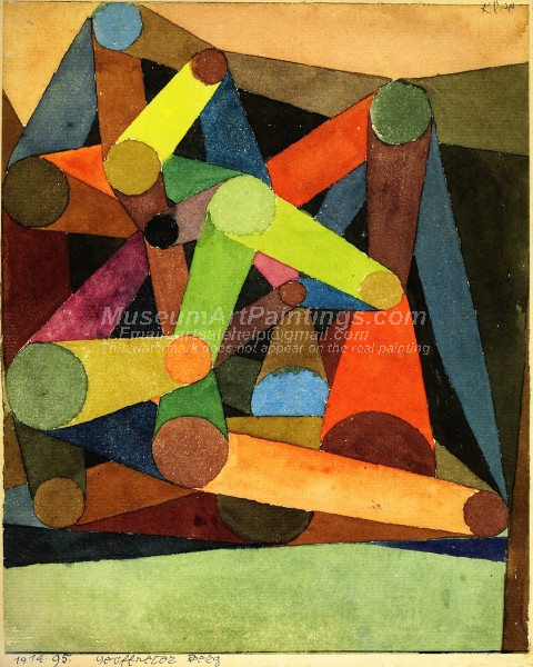 Geoffneter Berg by Paul Klee