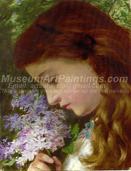 Girl with Lilacs Sophie Anderson