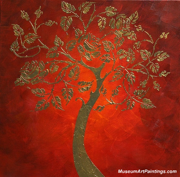 Gold Tree Landscape Painting 006