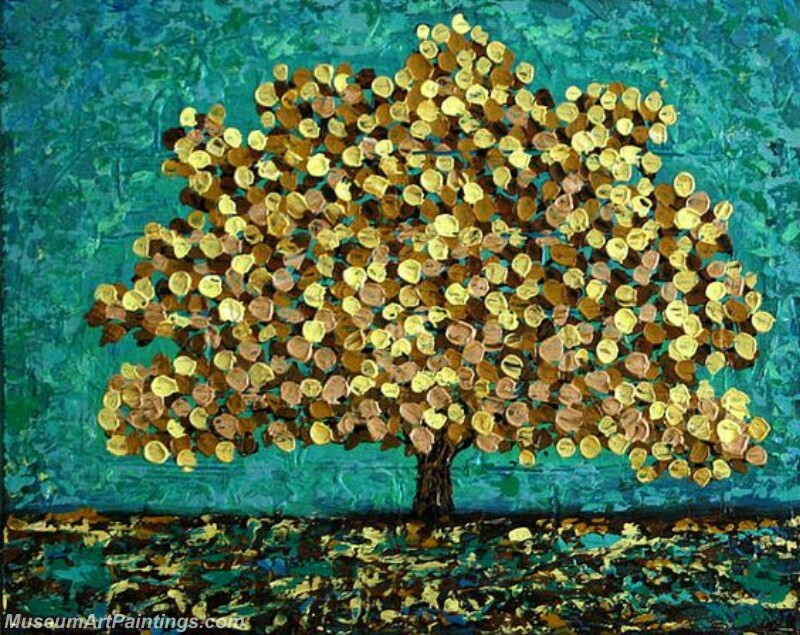 Golden Tree Painting Modern Abstract Art for Sale GT01