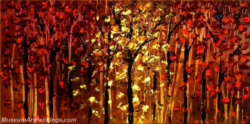 Golden Tree Painting Modern Abstract Art for Sale GT010