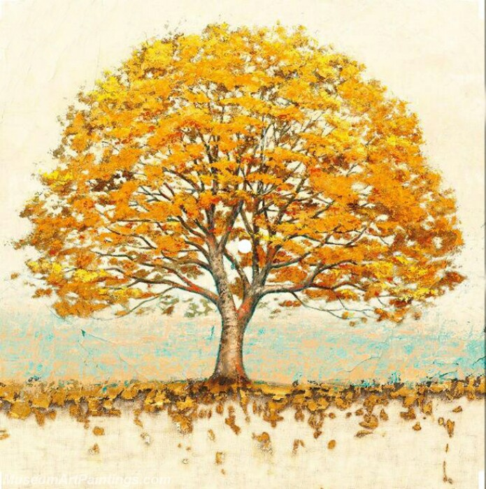 Golden Tree Painting Modern Abstract Art for Sale GT011