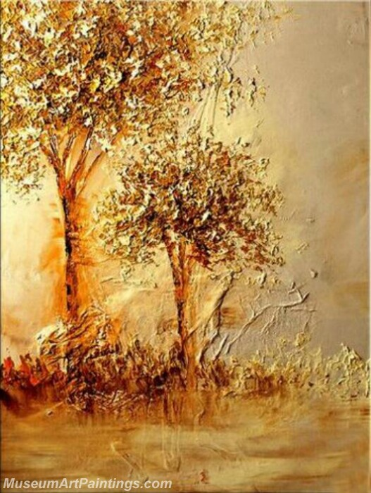 Golden Tree Painting Modern Abstract Art for Sale GT012