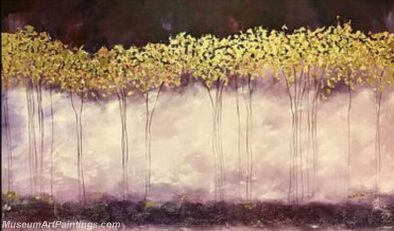 Golden Tree Painting Modern Abstract Art for Sale GT015