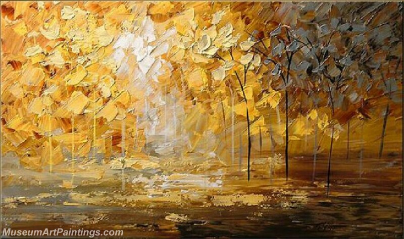 Golden Tree Painting Modern Abstract Art for Sale GT018