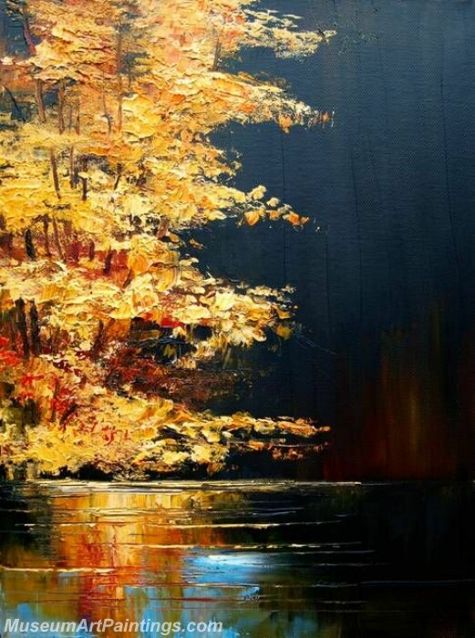 Golden Tree Painting Modern Abstract Art for Sale GT02