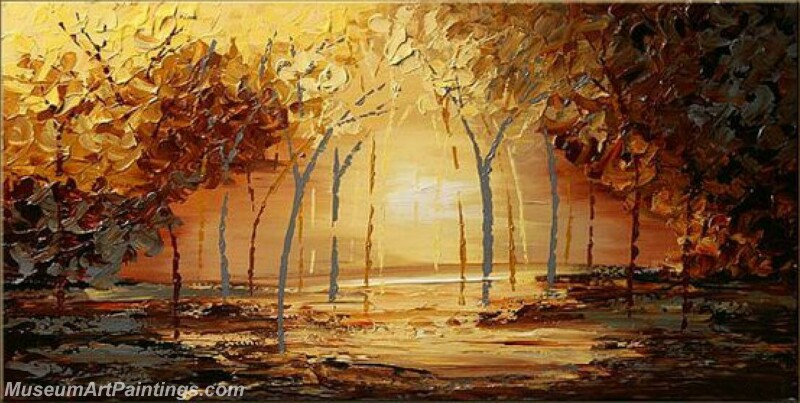 Golden Tree Painting Modern Abstract Art for Sale GT021