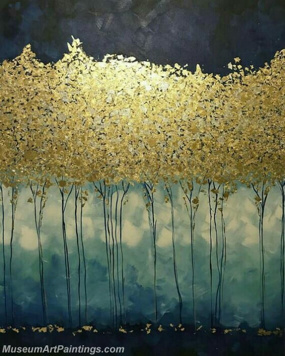 Golden Tree Painting Modern Abstract Art for Sale GT03