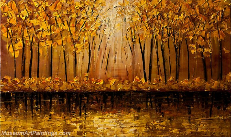Golden Tree Painting Modern Abstract Art for Sale GT030