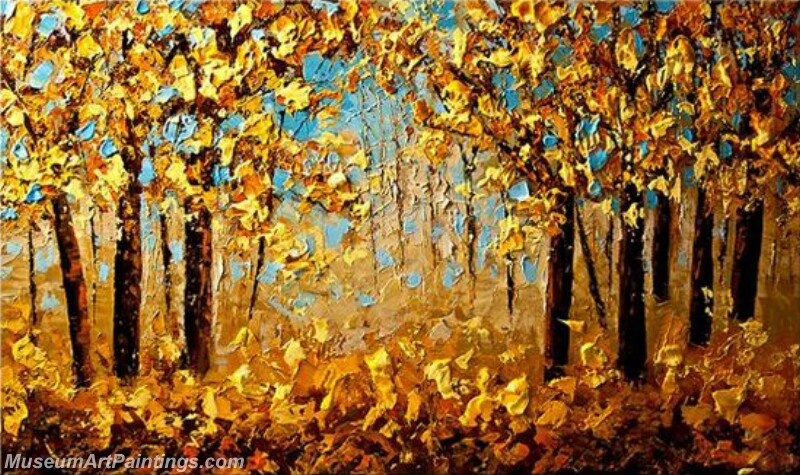 Golden Tree Painting Modern Abstract Art for Sale GT04