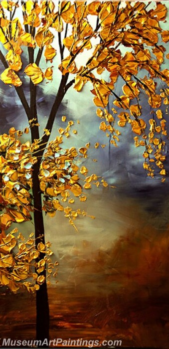 Golden Tree Painting Modern Abstract Art for Sale GT06
