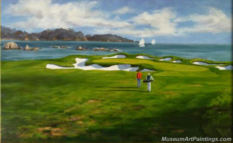Golf Landscape Oil Painting GP02