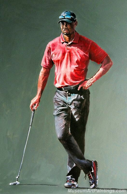 Golf Paintings Tiger Woods Paintings 02