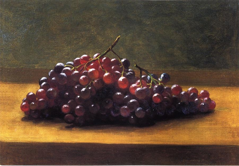 Grapes on a Tabletop by George Henry Hall