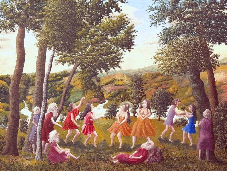 Greek Dance in a Landscape by Andre Bauchant