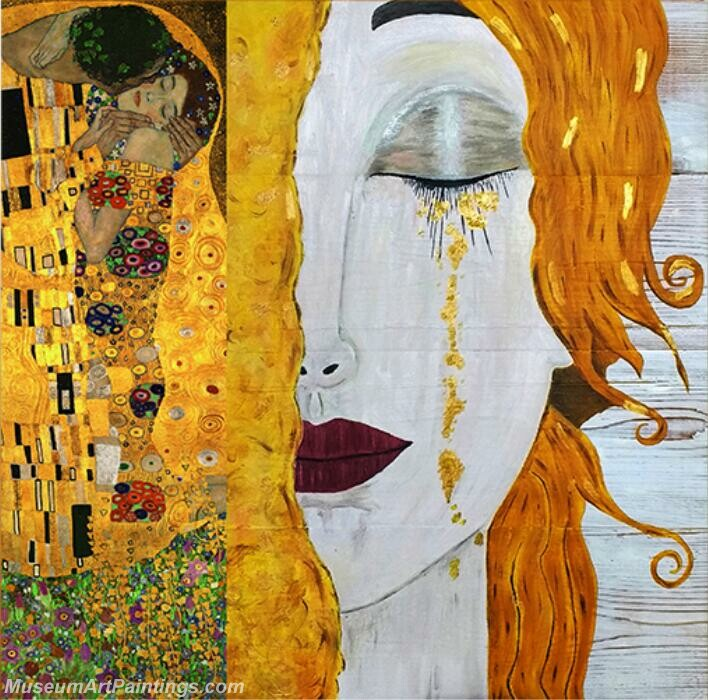Gustav Klimt Paintings Golden Tears