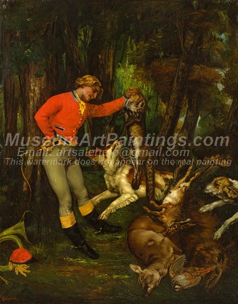 Gustave Courbet Painting After the Hunt