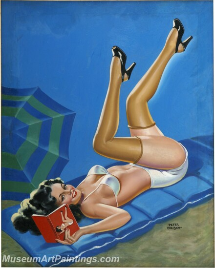 Handmade Beautiful Modern Sexy Pin Up Girls Paintings M1434