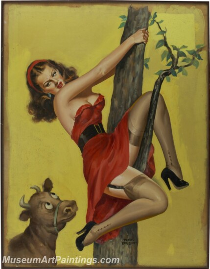 Handmade Beautiful Modern Sexy Pin Up Girls Paintings M1435