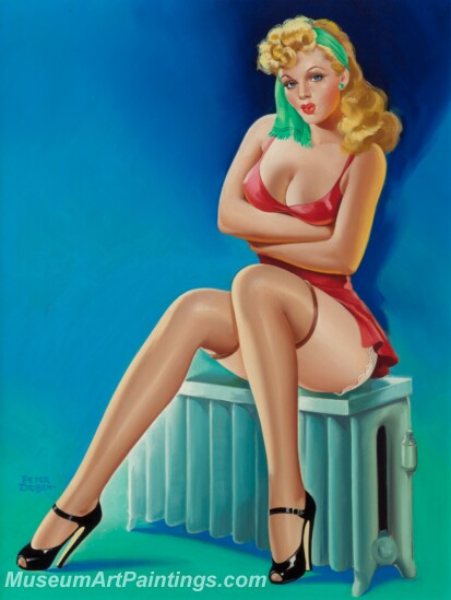 Handmade Beautiful Modern Sexy Pin Up Girls Paintings M1454
