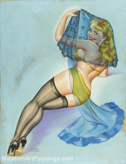 Handmade Beautiful Modern Sexy Pin Up Girls Paintings M1457