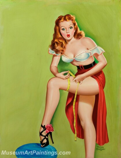 Handmade Beautiful Modern Sexy Pin Up Girls Paintings M1459