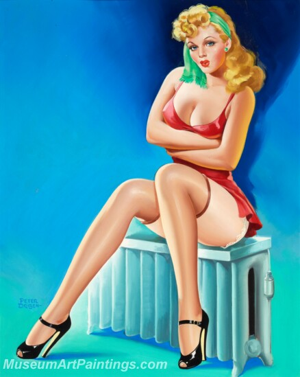 Handmade Beautiful Modern Sexy Pin Up Girls Paintings M1467
