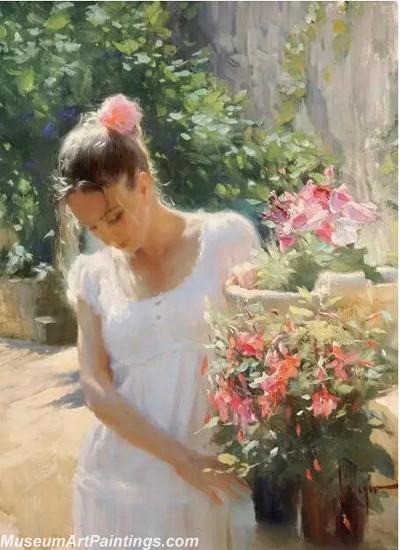 Handmade Beautiful Woman Portrait Painting 003