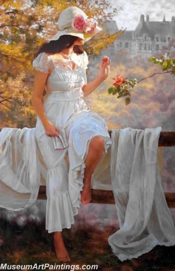 Handmade Beautiful Woman Portrait Painting 004