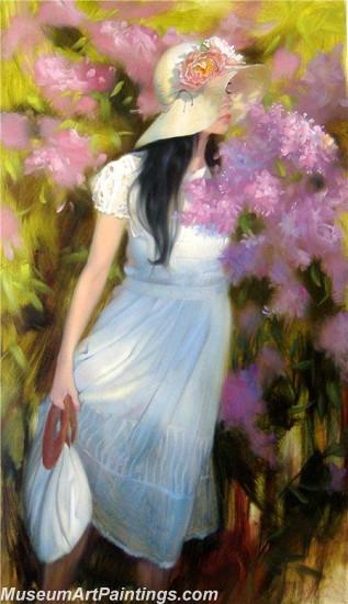 Handmade Beautiful Woman Portrait Painting 009