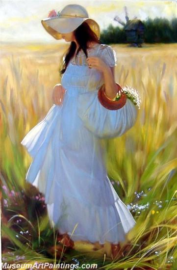 Handmade Beautiful Woman Portrait Painting 011