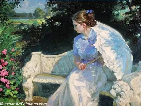 Handmade Beautiful Woman Portrait Painting 012