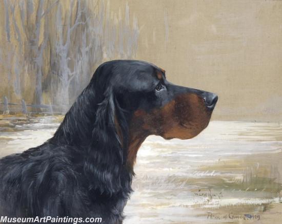 Handmade Dog Portrait Oil Paintings MA0100