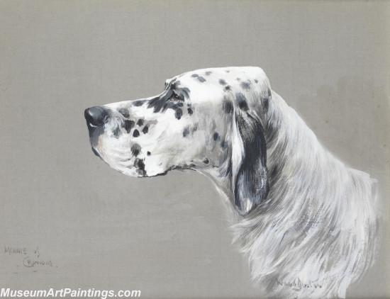 Handmade Dog Portrait Oil Paintings MA0101