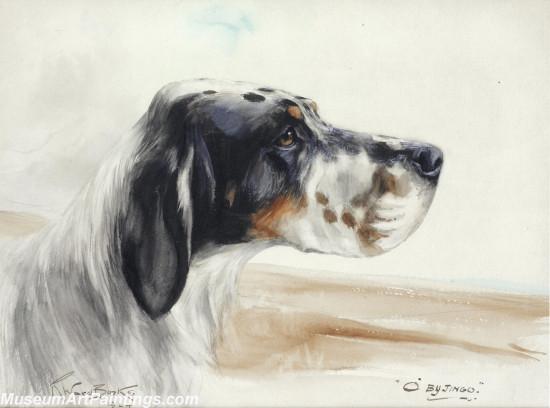 Handmade Dog Portrait Oil Paintings MA0102
