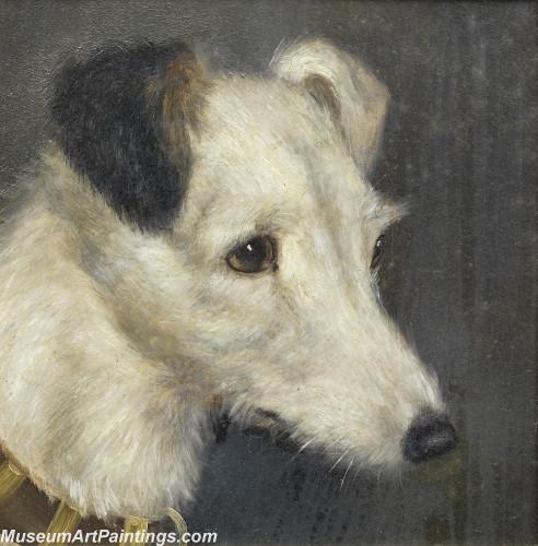 Handmade Dog Portrait Oil Paintings MA028