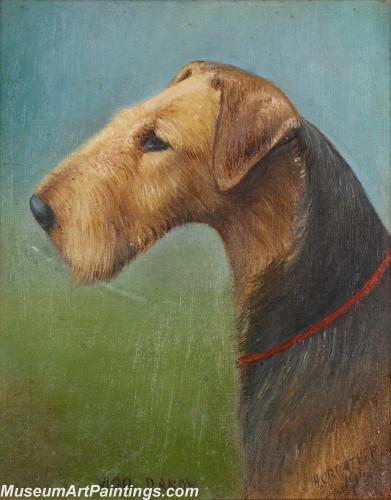 Handmade Dog Portrait Oil Paintings MA033
