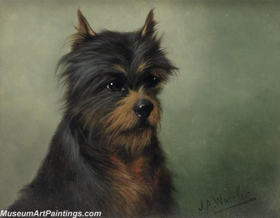 Handmade Dog Portrait Oil Paintings MA096