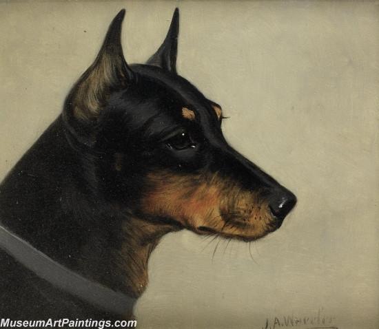 Handmade Dog Portrait Oil Paintings MA097