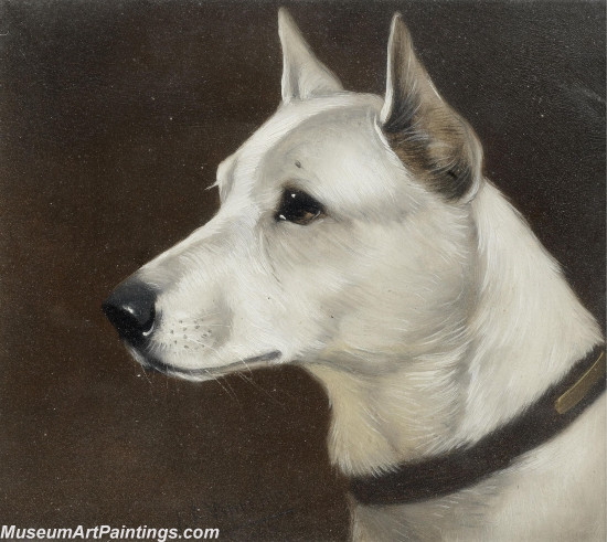 Handmade Dog Portrait Oil Paintings MA098