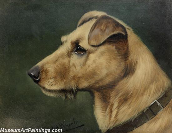 Handmade Dog Portrait Oil Paintings MA099