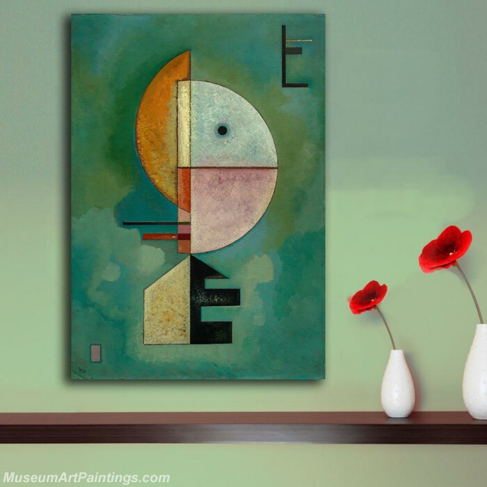 Handmade Famous Abstract Oil Painting Kandinsky Geometric Patterns Canvas Painting For Living Room Paintings