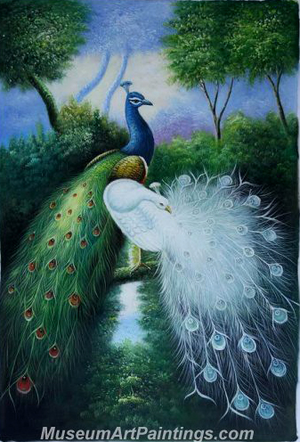 Handmade Peacock Paintings HPN02