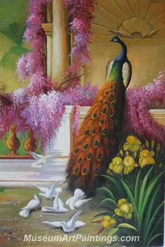 Handmade Peacock Paintings HPN03