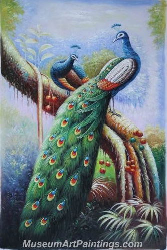Handmade Peacock Paintings HPN08