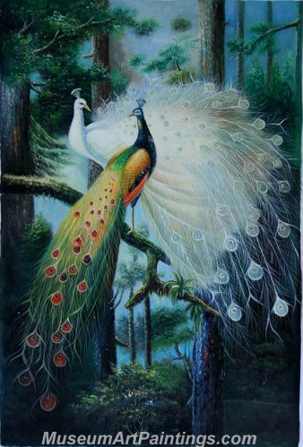 Handmade Peacock Paintings HPN09