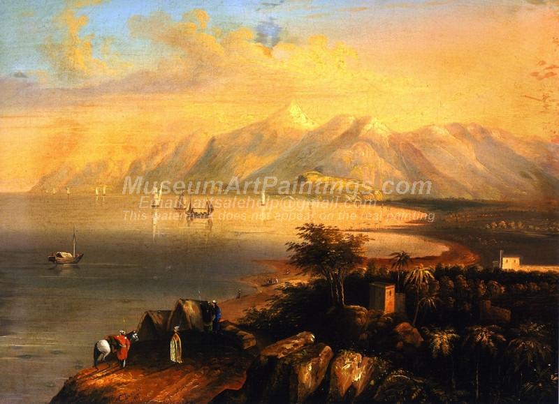 Harbor Scene by Charles Deas