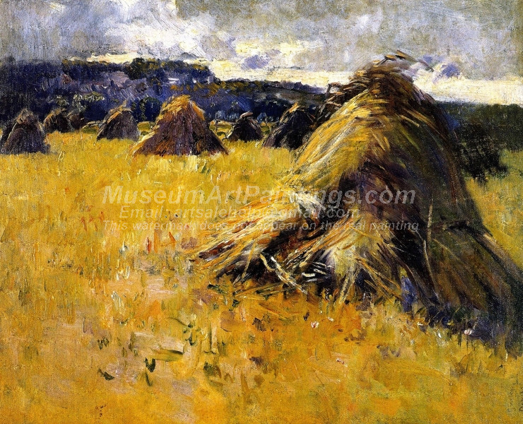 Haystacks at Sunset by Dawson Dawson Watson