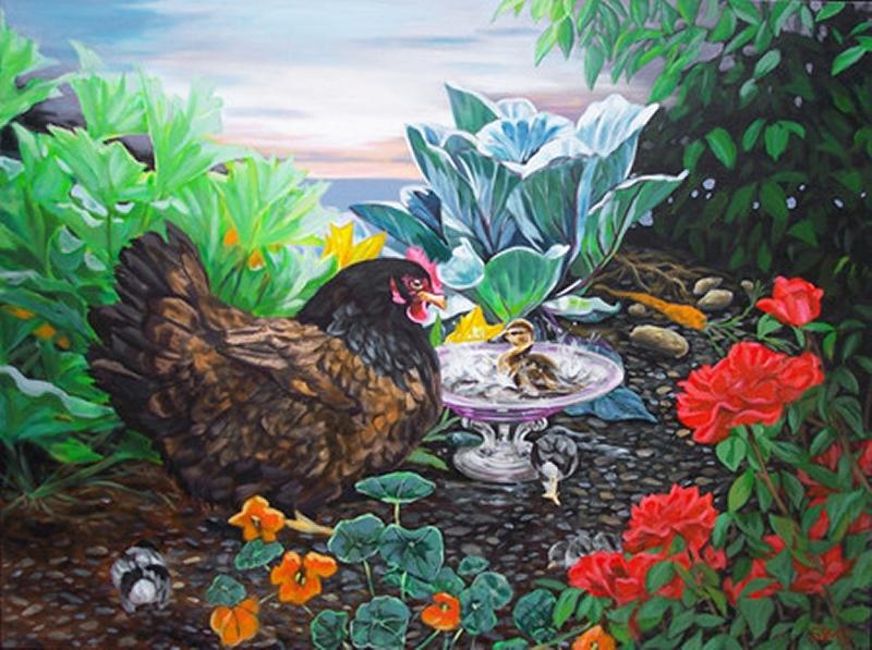 Hen Paintings 001